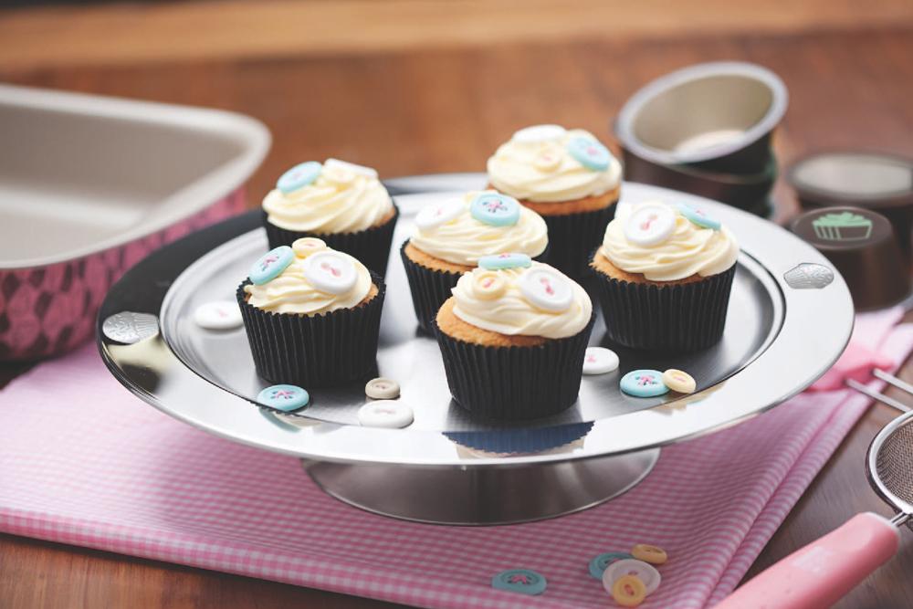 Tava rotunda cu stativ pentru servire dulciuri/prajituri